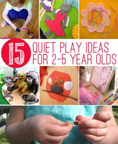 15 quiet play activities fpr 2-5 year olds