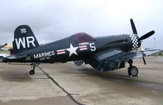 Corsair. These were fighter planes that were flown by Navy and Marine Corp pilots. They are the same planes that were flown by the famous squadron called The Black Sheep, lead by their legendary commanding officer Pappy Boyington.BFD