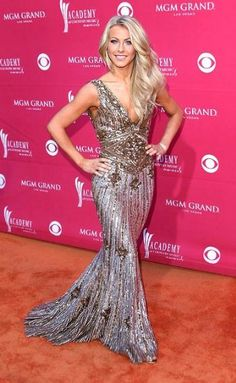 Julianne Hough - I LOVE her dress, and hair.