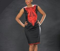 African Embroidered Dress African Clothes For by SageClothing