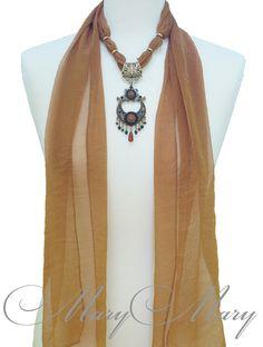 Женский шарф с подвеской Тина, от творческой мастерской MaryMary