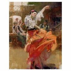 Add museum-worthy appeal to your living room or study with this eye-catching canvas print of Pino Daeni's Flamenco in Red.   Product: Canvas printConstruction Material: CanvasFeatures:  Signed and numbered limited editionDesigned by Pino Daeni Comes with a certificate of authenticity Eco-friendly, solvent free inks Cleaning and Care: Dust with a dry cloth
