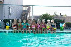 Take a picture of all the kids around the pool!
