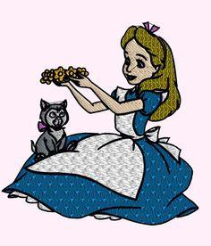Alice en broderie
