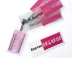cards transparentes!