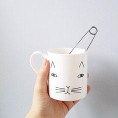 Tuesday Tea Time!  Our Mog Mug with @marenoro x http://www.donnawilson.com/product/ceramics/mog-mug