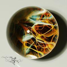 THREAD THEORY - BORO FILAMENT MARBLE #glassmarble #glassart #space #flameworked #boro #scifi