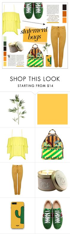 """BE BRIGHT, BE HAPPY"" by mars-sixieme ❤ liked on Polyvore featuring Pier 1 Imports, Alice + Olivia, Fendi, M&Co, Lily-Flame, WithChic, Gucci, StreetStyle, bags and statementbags"