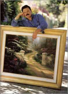 Thomas Kinkade...RIP.  Thank you for transporting us into your beautiful world.  I know you're enjoying all the beautiful colors of heaven.