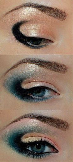 Sea Wave Eye Make Up