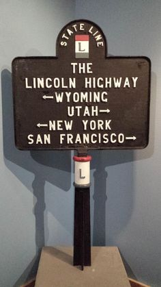 We are just three weeks away from completing our 125th Anniversary exhibit. This week we are focusing on the turbulent 1910s. From the first World War, to the deadliest global pandemic of Spanish flu, the decade changed the world forever.  One of the objects in this week's installation is one of the original Lincoln Highway state line markers used on the state border.