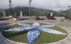 Asturias se inunda de alfombras florales con la tradición del Corpus: Alfombra floral en Santa Eulalia de Oscos
