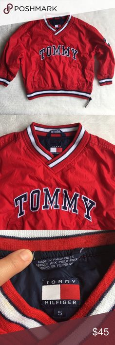 Vintage Tommy Hilfiger Boy Spellout Sweatshirt  5 Pre-owned authentic Vintage Tommy Hilfiger Boy Spellout Sweatshirt size 5. Too cute! Please look at pictures for better reference. You can have a minnie me! Happy Shopping! Tommy Hilfiger Shirts & Tops Sweatshirts & Hoodies