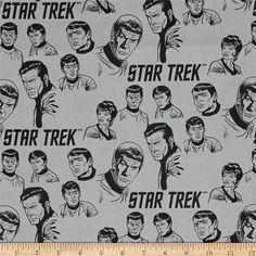 NCC 1701 Quilting Camelot Fabrics Star Trek Fabric Classic Spock Kirk Bones