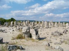 Bulgaria, Pobiti Kamani. Various theories of what these pillars are & how they were made.