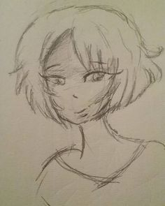 So I did a quick #sketch of a girl with short hair.  #myart #illustration #drawing #pencil