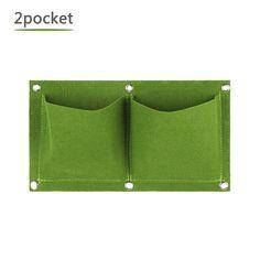 HelloCreate 18 Pockets Vertical Greening Hanging Wall Outdoor Garden Grow Plant Bags Planter
