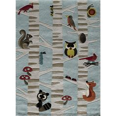 Momeni 'Lil Mo Forest Critters Light Rug