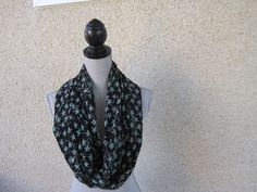 Silk scarf fabric scarf Infinity scarf  by FootlessDesigns on Etsy
