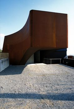 Image 15 of 15 from gallery of SHIP / Katsuhiro Miyamoto & Associates. Small Buildings, Modern Buildings, Interior Architecture, Interior And Exterior, Steel Cladding, External Cladding, Weathering Steel, Archi Design, Steel House