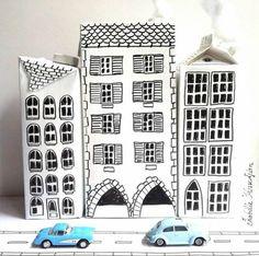 15 propostes creatives per fer cases a partir d'un envàs bric de llet