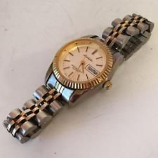 Two tone Quartz date water resistant watch with two tone bracelet MIC... Lot 216