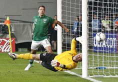 Goal!  Ireland goalkeeper Shay Given during the 2012 soccer championship Group C.