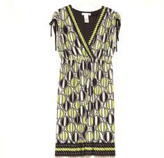 London Times Women's Green Black Sleeveless Empire Waist Career Dress Size 10 #LondonTimes #WomensFashion #CareerWear #shopping