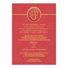 Wedding Indian Style Flat Invitation