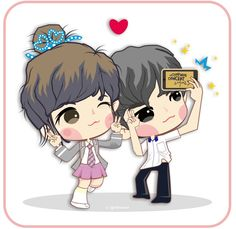 Yeollie and Myung..