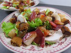 Salade de magret fumé, pain d'épices & betteraves