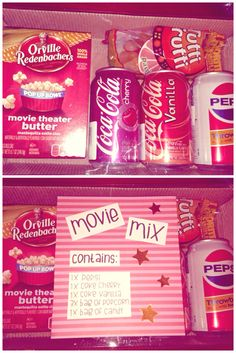 Gift idea to a person who likes to watch movies. You just need one box and things what you put in it. You can put whatever you like, for example movie, popcorn and candy. I made this to my boyfriend as a christmas gift.