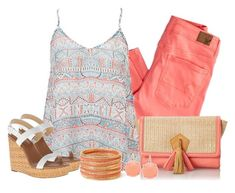 """Peach"" by southerngirl-n-michigan ❤ liked on Polyvore featuring American Eagle Outfitters, Danielle Nicole, Forever 21, Kate Spade, FOSSIL, women's clothing, women, female, woman and misses"