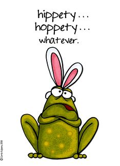 whatever - easter frog card. Personalize any greeting card for no additional cost! Cards are shipped the Next Business Day. Product ID: 164642 Fall Arts And Crafts, Arts And Crafts Storage, Arts And Crafts For Adults, Arts And Crafts House, Crafts For Seniors, Easter Art, Hoppy Easter, Easter Crafts, Easter Puns