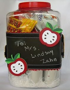 Teacher Appreciation gift.  This blog has a bunch of ideas!
