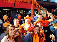 Amsterdam 2014: dressed in orange we watched the football matches with Sami from the Jordan Tourism Board - Tourism Marketing Concepts