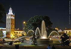 J.C. Nichols fountain on The Plaza