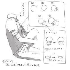 「服のしわ 描き方 つめあわせ」/「松村上久郎」の漫画 [pixiv]