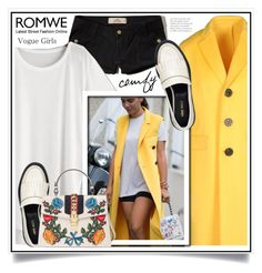 """Romwe"" by ewa-naukowicz-wojcik ❤ liked on Polyvore featuring Dsquared2, Hollister Co., Nine West and Gucci"