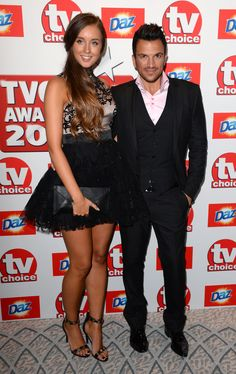 Peter Andre and Emily Macdonagh - TV Choice Awards 2013. Love her dress you can buy it at key fashion