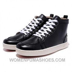 b6458915dee Christian Louboutin Men High-Top Logo Printed Leather Black Super Deals  HzF3N, Price   140.00 - Women Puma Shoes, Puma Shoes for Women