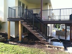 A complete larger deck install.