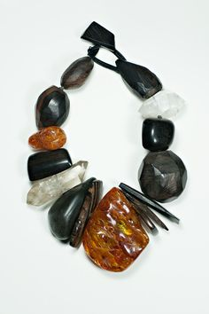 Monies Amber, Ebony, and Crystal Necklace » Santa Fe Dry Goods