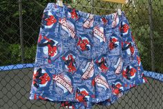 Handmade Spiderman Boxer Shorts.  Super hero by SewnWithPassion