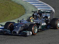 Lewis Hamilton in action