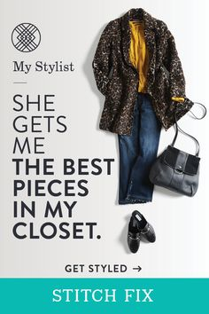 Cool and confident. This is your go-to look for fall and your Stitch Fix Stylist knows it. Leave it to her to find five pieces that work with your taste and budget. Lace and leather, bell sleeves and stilettos—whatever your closet desires—shipped free of charge, whenever you need a fashion Fix. Try it today.