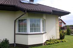 Venus Parterowy dom przeznaczony dla 4-osobowej rodziny. - Jesteśmy AUTOREM - DOMY w Stylu Venus, Garage Doors, 1, Windows, Outdoor Decor, Home Decor, Madeira, Small Bathrooms, Luxury