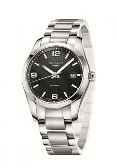 Men's Longines Conquest Classic Black dial watch