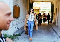 Vogue.com's Alessandra Codinha in Re/Done   Levi's jeans