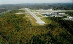 Yeager Airport (CRW) ~ Charleston WV.  So cool and yet wild...on top of a mountain.